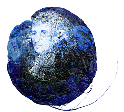 """the royal blue patch"" by Andreas Roseneder (polimer colours on poliethylene master batch)"